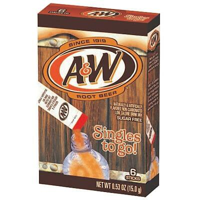 A & W Singles To Go Powdered Root Beer Drink Mix 0.53 oz (15g) A&W