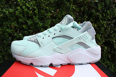 huge discount cc1f8 6e8bb Nike Womens Air Huarache Run Sz 5.5 Igloo Wolf Grey White Mint 634835 303