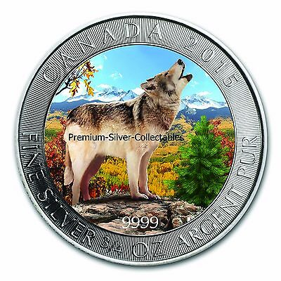 2015 Canada Grey Wolf Series - Coin #4 of 4 Autumn 3/4 Ounce Pure Silver .9999