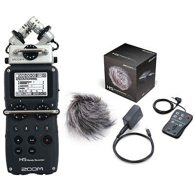 Zoom H5 Handy Recorder w/ Zoom APH-5 Accessory Pack Bundle