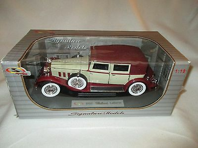 Signature Models 1930 Packard LeBaron Diecast Model 1:18 Scale in Box