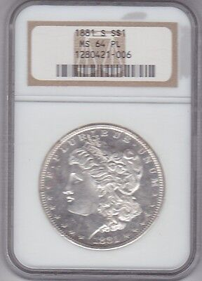 1881-S  Morgan Dollar  NGC 64