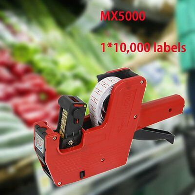 New MX-5500 8 Digits EOS Price Tag Gun With 1*10,000 Labels And 2* Ink Cartridge