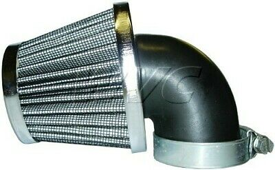 Air Filter - 35mm, 90 Degree Angle, Cone - (Chrome) - Scooters, ATVs, Motorcycle