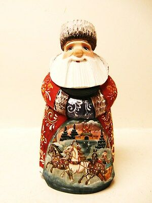 """Alkota Genuine Russian Santa with bag on the Front, 7.5"""" Wood"""