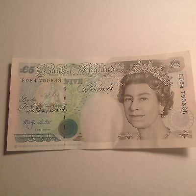 UK GREAT BRITAIN 1990 Bank of England 5 Pound Note Bill