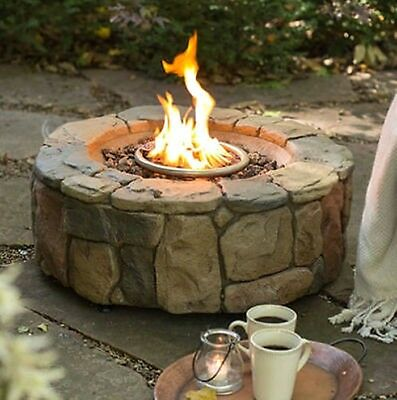 Outdoor Fire Pit Propane Gas Backyard Patio Deck Fireplace Bowl Heater W/ Cover