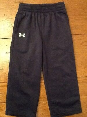 Boys Under Armour athletic sweatpants navy size 24 month toddler 24m