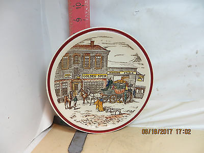 Vernon Kilns Plate , Bits Of Old England Number 8 - No Damage! Golden Spur