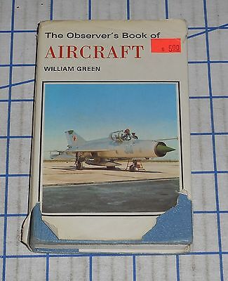 Vintage 1972 The Observer's Book of Aircraft William Green ID Guide Book VG