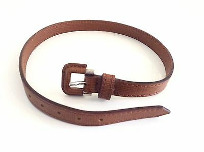 Burberry Unisex Tan Leather Necklace Bracelet Wrap New