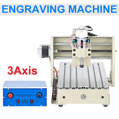 3 Axis 300W Engraver Cnc 2015T Router Engraving Drilling Milling Cutter Desktop