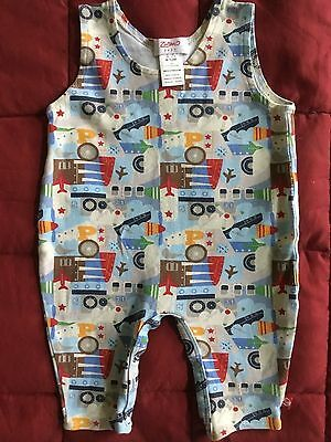 Zutano Boys 1 Pc Coverall Jumpsuit Aircraft Airplane Helicopter 6-12 M New