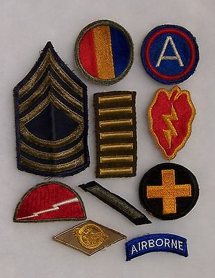 Group Of 10 Ww2 Era Army Patches Lot1