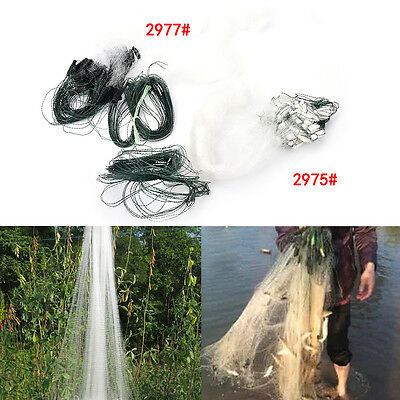 20m 1 Layers Fishing Net Monofilament Fishing Gill Network With Float 2 Options·