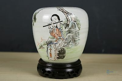 Fine Beautiful Chinese Famille Rose porcelain Brush Washer