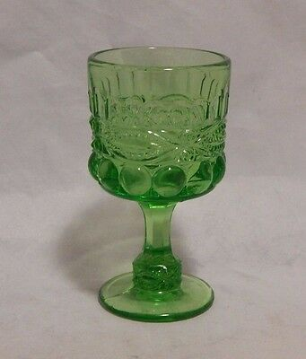 LG Wright Glass Green Eyewinker Wine Glass