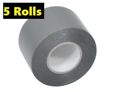 5 Rolls PVC DUCT TAPE 48MM X 30M  SILVER, GREAT QUALITY