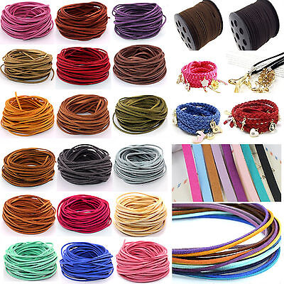 wholesale 10 Yards Suede Leather String Jewelry Making Bracelet DIY Thread Cord