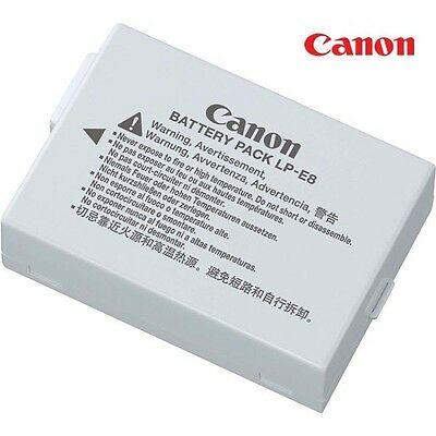 Genuine Canon LP-E8 Li-ion Battery Pack for EOS 550D 600D Kiss X4, Rebel T4i T5i