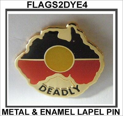 Aboriginal flag Indigenous DEADLY badge pin for hat shirt clothes FREE Gifts