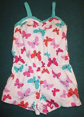 Pink Healthtex Baby Girl's Size 24m 2T Colorfull Butterfly Spring Romper