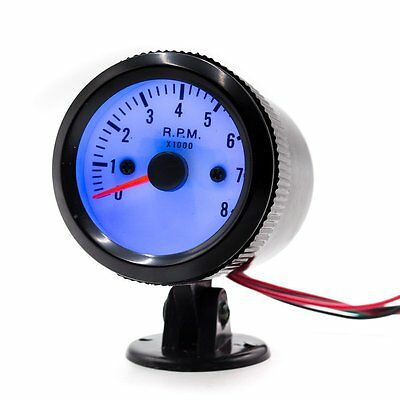"Tachometer Tinted 0-8(x1000) RPM Car Smoke Tacho Gauges 2"" 52mm Universal CF12"