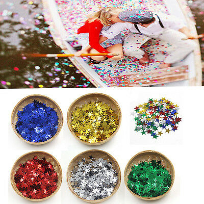 1000Pcs/Pack Five Star Plastic Table Throwing Confetti Party Wedding Decoration