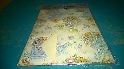 Vintage New Creative Papers Lucy Rigg New Baby Gift Wrap Wrapping Paper & Card