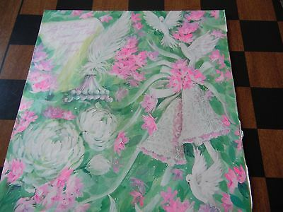 VINTAGE Wedding Gift Wrap Wrapping Paper Bells Doves