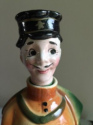 Vintage Arnart Vodka Decanter - Police Uniform With Cape And Pipe