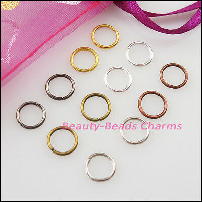 30Pc Jump Rings Open Connectors Gold Dull Silver Bronze Copper Black Plated 20mm