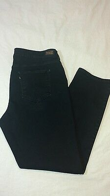 Women Levi's Perfectly Shaping 512 Skinny Leg Black Jeans Size 22W M - M3065