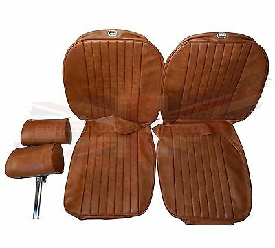 New Seat Covers Upholstery MGB 1973-80 Made in UK + Headrests Autumn Leaf SC125K