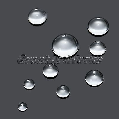 8-25mm Transparent Clear Hemisphere Glass Flat Back Cabochon Crystal Base Cover