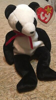 RARE Ty Beanie Baby FORTUNE PANDA BEAR RETIRED ORIGINAL w/ Multiple ERRORS