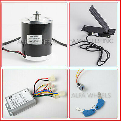 250 W 24 V electric motor kit w Control Thumb Throttle Charger