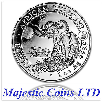 2016 Somalia Elephant Silver African Wildlife 1 Oz Monkey Privy