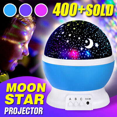 Night Star Sky Projector LED Light Lamp Rotating Starry Kids Gift Baby Bedroom