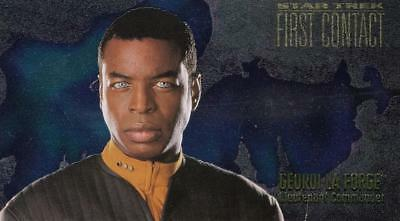 1996 Star Trek First Contact Character Card Geordi La Forge C3 NM/Mint condition