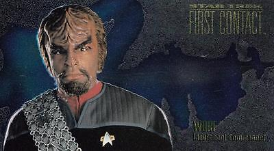 1996 Star Trek First Contact Character Card Worf C7 NM/Mint condition