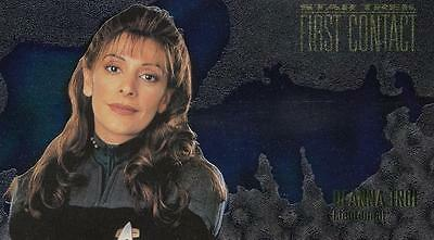 1996 Star Trek First Contact Character Card Deanna Troi C5 NM/Mint condition