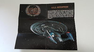 1996 Star Trek First Contact Blue print S1 Enterprise NM/Mint condition