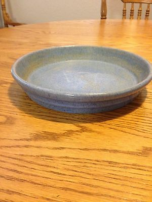 Vintage Pottery Flower Pot Saucer/Tray Blue Ring Ware