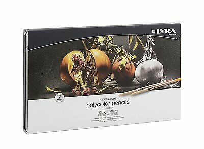 Lyra Rembrandt Polycolor Artists Coloured Pencils - Tin Set of 72