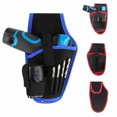AU Heavy-Duty Cordless Drill Holster Tool Belt Pouch w/Bit Carrying Holder