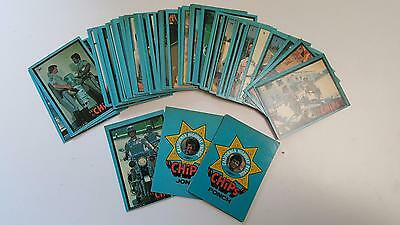 """1979 Donruss """"Chips"""" Trading Card Set missing 3 cards in very good condition"""