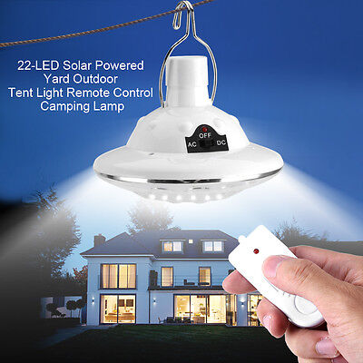 Solar Powered 22LED Outdoor Garden Landscape Yard Camping Remote Control Lamp ZY