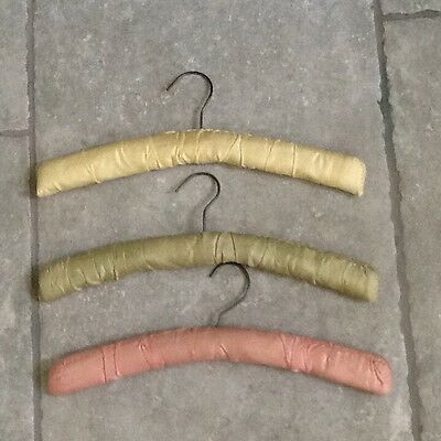 3 Genuine 1950s Padded Clothes Hangers