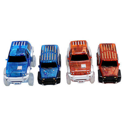 Electronics Car for Magic Track Toys With Flashing Lights Boys Educational Toys